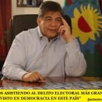 """""""ESTAMOS ASISTIENDO AL DELITO ELECTORAL MÁS GRANDE QUE SE HAYA VISTO EN DEMOCRACIA EN ESTE PAÍS"""""""