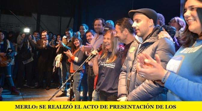 MERLO: SE REALIZÓ EL ACTO DE PRESENTACIÓN DE LOS PRECANDIDATOS A CONCEJALES