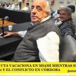 EL JEFE DE LA UTA VACACIONA EN MIAMI MIENTRAS SIGUE EL PARO DE LA LÍNEA 60 Y EL CONFLICTO EN CÓRDOBA