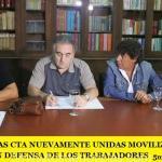 LA CGT Y LAS CTA NUEVAMENTE UNIDAS MOVILIZAN ESTE MARTES EN DEFENSA DE LOS TRABAJADORES