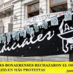 LOS JUDICIALES BONAERENSES RECHAZARON EL OFRECIMIENTO DE VIDAL Y DEFINEN MÁS PROTESTAS