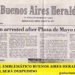 CIERRA EL EMBLEMÁTICO DIARIO BUENOS AIRES HERALD Y SU PERSONAL SERÁ DESPEDIDO