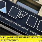 MONOTRIBUTO: EL 30 DE SEPTIEMBRE VENCE EL PLAZO PARA EL DOMICILIO ELECTRÓNICO
