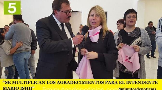 """""""SE MULTIPLICAN LOS AGRADECIMIENTOS PARA EL INTENDENTE MARIO ISHII"""""""