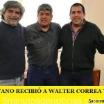 PABLO MOYANO RECIBIÓ A WALTER CORREA Y HERNÁN ESCUDERO