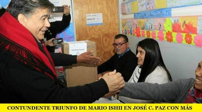 ELECCIONES 2017: CONTUNDENTE TRIUNFO DE MARIO ISHII EN JOSÉ C. PAZ CON MÁS DEL 59% DE LOS VOTOS