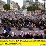MULTITUDINARIO ACTO EN PLAZA DE MAYO RECLAMANDO POR SANTIAGO MALDONADO
