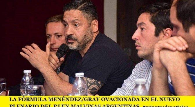 LA FÓRMULA MENÉNDEZ/GRAY OVACIONADA EN EL NUEVO PLENARIO DEL PJ EN MALVINAS ARGENTINAS