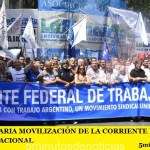 MULTITUDINARIA MOVILIZACIÓN DE LA CORRIENTE FEDERAL AL CONGRESO NACIONAL