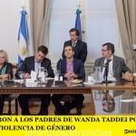 RECONOCIERON A LOS PADRES DE WANDA TADDEI POR LA LUCHA CONTRA LA VIOLENCIA DE GÉNERO