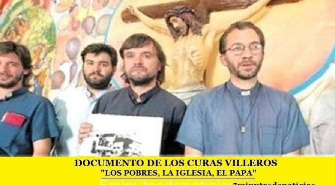 """DOCUMENTO DEL EQUIPO DE SACERDOTES DE VILLAS: """"LOS POBRES, LA IGLESIA, EL PAPA"""""""