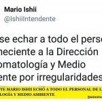 EL INTENDENTE MARIO ISHII ECHÓ A TODO EL PERSONAL DE LA DIRECCIÓN DE BROMATOLOGÍA Y MEDIO AMBIENTE