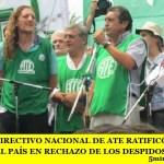 EL CONSEJO DIRECTIVO NACIONAL DE ATE RATIFICÓ EL PARO DEL 15F EN TODO EL PAÍS EN RECHAZO DE LOS DESPIDOS Y AJUSTES