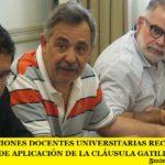 LAS FEDERACIONES DOCENTES UNIVERSITARIAS RECHAZARON LA MODALIDAD DE APLICACIÓN DE LA CLÁUSULA GATILLO