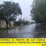 GUSTAVO MENÉNDEZ AL FRENTE DE LAS TAREAS DE RESCATE LLAMÓ A LA SOLIDARIDAD Y UNIDAD DE LOS MERLENSES
