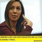 CARTA ABIERTA DE LOS ESTUDIANTES DE LA UNM A LA GOBERNADORA VIDAL