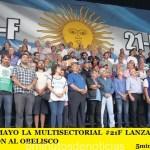 ESTE 25 DE MAYO LA MULTISECTORIAL #21F LANZA UNA MASIVA MOVILIZACIÓN AL OBELISCO