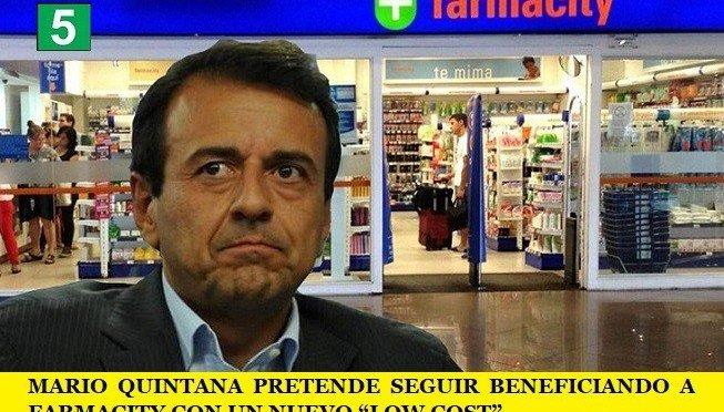 """MARIO QUINTANA PRETENDE SEGUIR BENEFICIANDO A FARMACITY CON UN NUEVO """"LOW COST"""""""