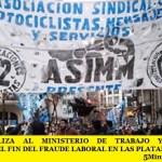 ASIMM MOVILIZA AL MINISTERIO DE TRABAJO Y PRODUCCIÓN RECLAMANDO EL FIN DEL FRAUDE LABORAL EN LAS PLATAFORMAS