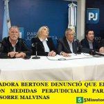 LA GOBERNADORA BERTONE DENUNCIÓ QUE EL GOBIERNO DEL PRESIDENTE MACRI AVANZA CON MEDIDAS PERJUDICIALES PARA NUESTRA SOBERANÍA SOBRE MALVINAS