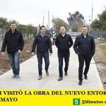 LEO NARDINI VISITÓ LA OBRA DEL NUEVO ENTORNO URBANO DE VILLA DE MAYO