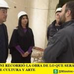 LEO NARDINI RECORRIÓ LA OBRA DE LO QUE SERÁ EL NUEVO EDIFICIO DE CULTURA Y ARTE