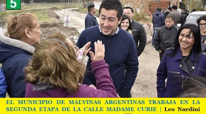 EL MUNICIPIO DE MALVINAS ARGENTINAS TRABAJA EN LA SEGUNDA ETAPA DE LA CALLE MADAME CURIE | Leo Nardini visitó la obra