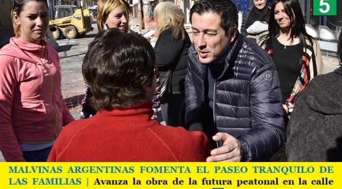 MALVINAS ARGENTINAS FOMENTA EL PASEO TRANQUILO DE LAS FAMILIAS   Avanza la obra de la futura peatonal en la calle Talcahuano
