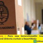 Elecciones 2019 | Para una incuestionable transparencia la Justicia Electoral debería excluir a SmartMatic