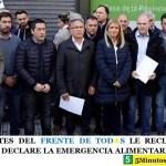 INTENDENTES DEL FRENTE DE TOD☀S LE RECLAMARON A VIDAL QUE DECLARE LA EMERGENCIA ALIMENTARIA