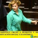 FLORENCIA SAINTOUT CRUZÓ A PICHETTO Y DESCRIBIÓ LA DRAMÁTICA SITUACIÓN SOCIAL Y ECONÓMICA