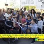 LEO NARDINI INAUGURÓ NUEVA OBRA QUE INCLUYE ONCE CUADRAS DE PAVIMENTO | Como es habitual lo acompañaron los vecinos