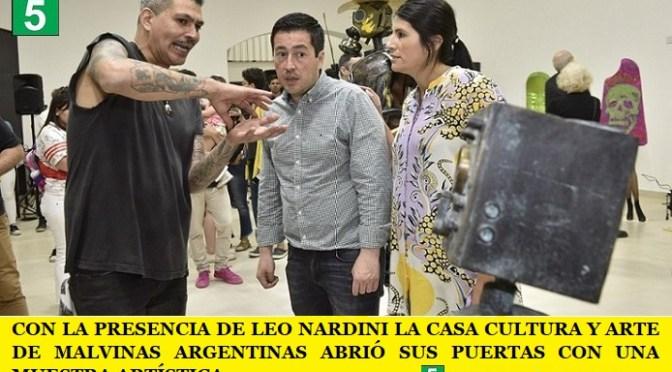 CON LA PRESENCIA DE LEO NARDINI LA CASA CULTURA Y ARTE DE MALVINAS ARGENTINAS ABRIÓ SUS PUERTAS CON UNA MUESTRA ARTÍSTICA