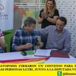 ZABALETA Y KATOPODIS FIRMARON UN CONVENIO PARA PROMOVER LOS DERECHOS DE LAS PERSONAS LGTBI, JUNTO A LA DIPUTADA VICTORIA DONDA