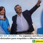 EL PERONISMO EN ACCIÓN | Ya organiza movilización a Plaza de Mayo el 10 de diciembre para respaldar a Alberto y Cristina
