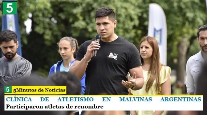 CLÍNICA DE ATLETISMO EN MALVINAS ARGENTINAS   Participaron atletas de renombre