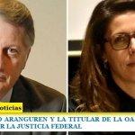 EL EX MINISTRO ARANGUREN Y LA TITULAR DE LA OA LAURA ALONSO PROCESADOS POR LA JUSTICIA FEDERAL