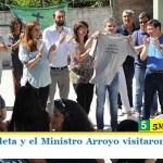 """""""Juanchi"""" Zabaleta y el Ministro Arroyo visitaron un merendero en Hurlingham"""
