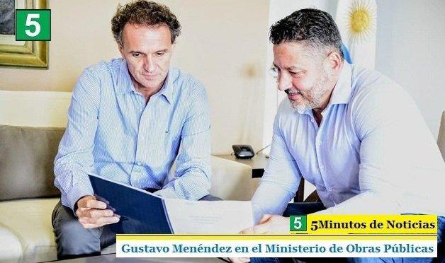 GUSTAVO MENÉNDEZ EN EL MINISTERIO DE OBRAS PÚBLICAS