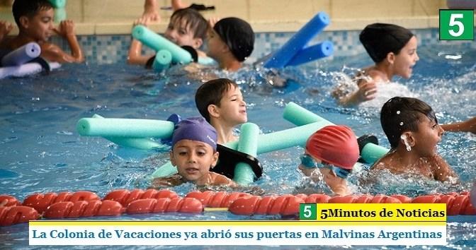 La Colonia de Vacaciones ya abrió sus puertas en Malvinas Argentinas