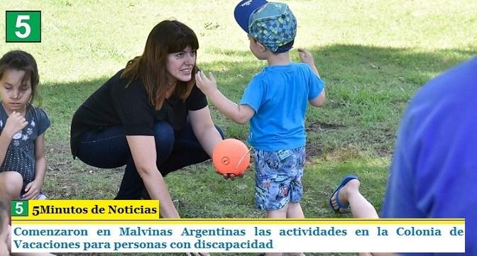Comenzaron en Malvinas Argentinas las actividades en la Colonia de Vacaciones para personas con discapacidad