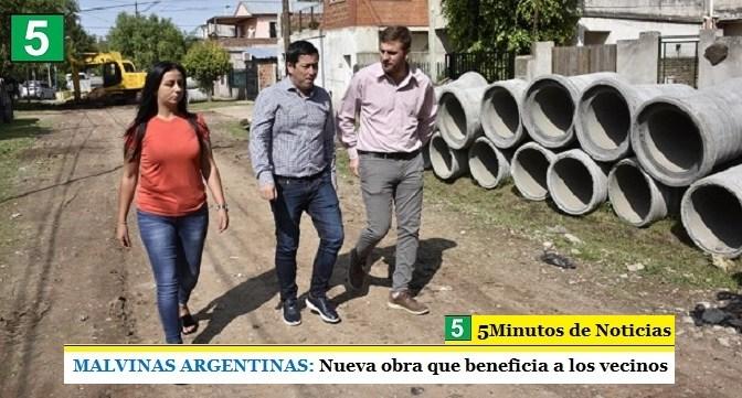 MALVINAS ARGENTINAS: Nueva obra que beneficia a los vecinos