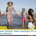 La primera dama Fabiola Yañez participó de actividades con niños en la costa atlántica
