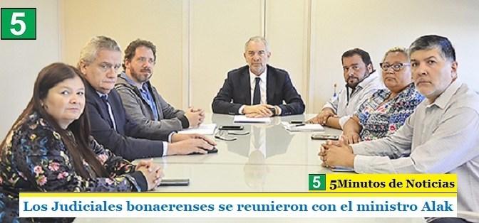 Los Judiciales bonaerenses se reunieron con el ministro Alak