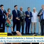 Alberto Fernández, Juan Zabaleta y Jaime Perczyk inauguraron el nuevo edificio de la Universidad Nacional de Hurlingham