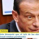 Gustavo Arrieta denunció que el 75% de las obras que tiene Vialidad Nacional estaban paralizadas