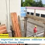 Leo Nardini supervisó las mejoras edilicias en la Escuela Secundaria Nº41 de Tierras Altas