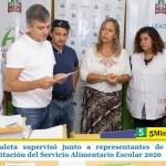 """""""Juanchi"""" Zabaleta supervisó junto a representantes de la comunidad educativa la licitación del Servicio Alimentario Escolar 2020"""