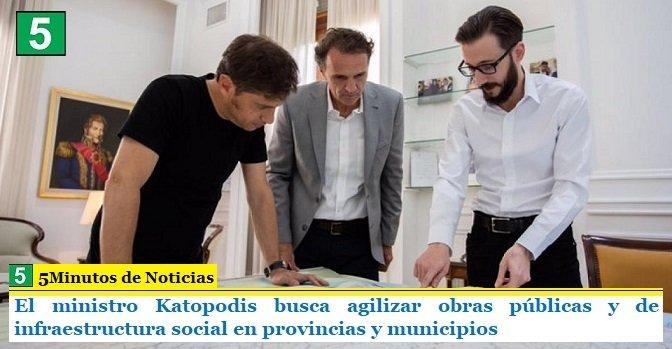 El ministro Katopodis busca agilizar obras públicas y de infraestructura social en provincias y municipios