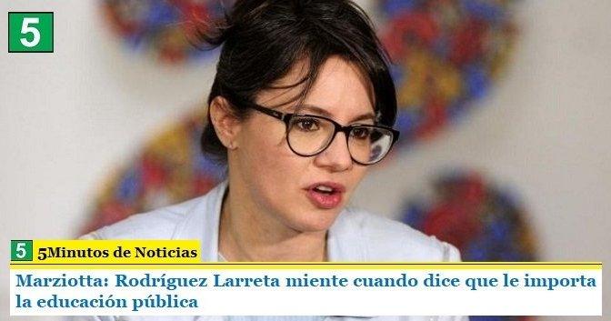 Marziotta: Rodríguez Larreta miente cuando dice que le importa la educación pública